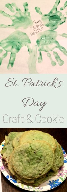 St. Patrick's Day Craft- Handprint 4-Leaf Clover & Sugar Cookie Recipe