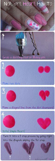 How to nail art hearts!