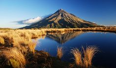 Mt Taranaki reflected in the Pouakai Tarns NZ New Zealand North, New Zealand Travel, Places To See, Places Ive Been, The Province, Mirror Image, Middle Earth, Mount Rainier, Travel Photography