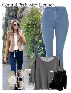"""""""Central Park with Eleanor"""" by diirectiioner69 ❤ liked on Polyvore featuring Topshop, H&M, Skagen and Linda Farrow"""