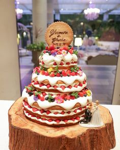Wedding Cakes With Flowers, Beautiful Wedding Cakes, Weddig Cakes, Baking School, Birthday Plate, Big Cakes, Take The Cake, Cake Tutorial, Food Illustrations