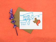Texas birthday greeting card letterpress birthday greeting cards texas is empty greeting card letterpress die cut bookmarktalkfo Choice Image