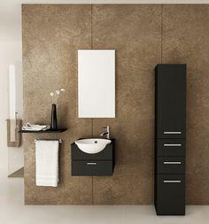 Mira Single Sink Wall Mounted Modern Bathroom Vanity Furniture Cabinet - modern - Bathroom Vanities And Sink Consoles - BathGems Bathroom Wall Colors, Wall Mounted Bathroom Cabinets, Bathroom Vanity Designs, Small Bathroom Vanities, White Vanity Bathroom, Vanity Sink, Modern Bathroom, Bathroom Ideas, Toilet Vanity