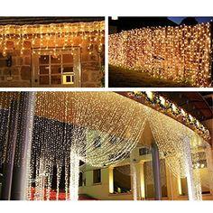 LE® 304 LEDs LED Lichtervorhang 8 Modi 3m * 3m, Verbindbarer Entwurf, Warmweiß, 3000 Kelvin, LED Lichterkette für Weihnachten / Hochzeit / Party, Weihnachtsbeleuchtung: Amazon.de: Beleuchtung