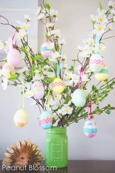 Easter Projects, Easter Crafts For Kids, Easter Ideas, Bunny Crafts, Diy Projects, Diy Crafts, Easter Tree Decorations, Easter Centerpiece, Centerpieces