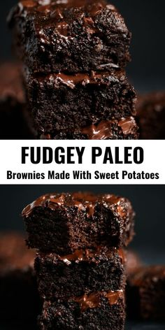 Best Homemade Brownies - Paleo Gluten Free EatsEasy homemade brownies with a fudgey middle and crispy delicious corners. These gluten free brownies are family favorites- filled with rich chocolate flavor and made with healthy ingredients! Paleo Dessert, Dessert Sans Gluten, Healthy Dessert Recipes, Healthy Baking, Vegan Desserts, Healthy Desserts, Gourmet Recipes, Free Recipes, Sweet Potato Recipes Healthy