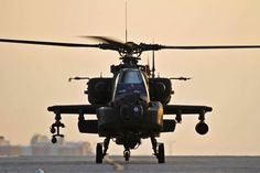 A U.S. Army AH-64 Apache attack helicopter prepares to depart Bagram Air Field, Afghanistan, Jan. 7, 2012. The Apache conducts distributed operations, precision strikes against relocatable targets, and provides armed reconnaissance when required in day, night, obscured battlefield and adverse weather conditions.