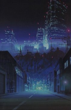 Cyberpunk, artemartemm:  night  city  dreams
