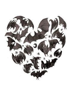 Coffin Dust - heart made of bats
