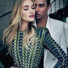 balmain green cool style dress fashion leather dress rosie huntington-whiteley embellished couture khaki texture
