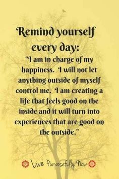 I am in charge of my life
