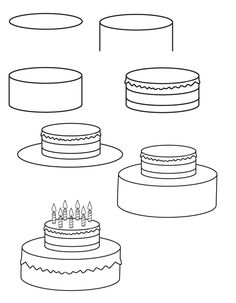 Brilliant 82 Best Images Happy Birthday Cards Cake Drawing Happy Personalised Birthday Cards Paralily Jamesorg