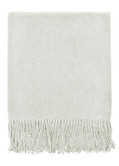 Our ultra soft, brushed organic cotton throw brings warmth and comfort with its velvety smooth texture and stylish hand-twisted fringes. We love the classic look and limitless versatility of these solid color selections. Drape this throw elegantly over your couch and add a touch of casual sophistication to your home. Loomed to a substantial weight, it is perfect for cuddling on the couch or light layering during an afternoon nap.  Material: 100% Organic Cotton  TC/GSM: 350 GSM    Dimension…