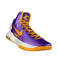 """KD V iD """"Showtime Grapes"""". I designed this @ NIKEiD. Inspired by the LA's """"Showtime"""" squad. $150"""