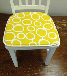 Set of 4 flat chair pads seat cushions 1 inch by kirtamdesigns, $80.00