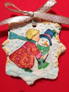 Girl with snowman winter decorated cookie | Cookie Connection  #cookieart