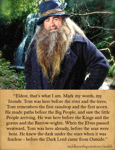 Tom Bombadil - Lord of the Rings via Tumblr