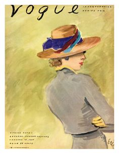 """Vogue Cover - January 1937 by Carl """"Eric"""" Erickson"""