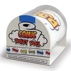 Comic Toilet Paper and more Unique Gifts at Perpetual Kid. When you use our Comic Toilet Paper, no more courtesy flushes are needed! This toilet paper will re Lifehacks, Spinning, Whatsapp Tricks, Creative Inventions, Gadgets, Rolled Paper, Practical Jokes, Toilet Training, Crafts For Boys