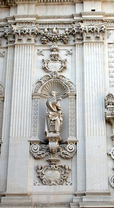 Lecce - Detail from Baroque Facade