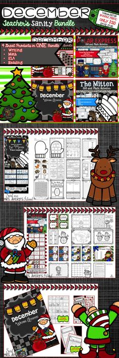 This Christmas themed bundle is packed full of FOUR engaging resources that your students are guaranteed to enjoy during the month of December.  #teachersfollowteachers #teacherspayteachers #tpt #iteachtoo #iteach #education #learning #thepolarexpress #th