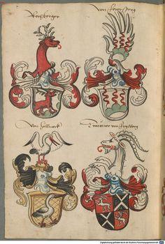 Wappen deutscher Geschlechter Augsburg ?, 4. Viertel 15. Jh. Cod.icon. 311  Folio 66v