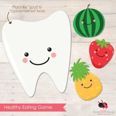 """Healthy Eating """"Good Food"""" Matching Game (free; from Busy Little Bugs)"""