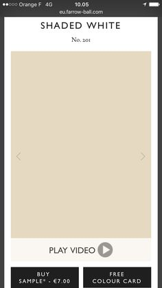Staded white farrow and ball Color Card, Free Samples, Beach House, House Design, Cards, Stuff To Buy, Design Ideas, Beach Homes, Maps