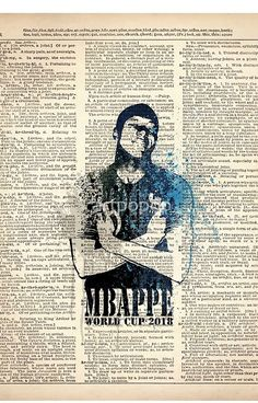 4eb186837 WORLD CUP 2018 #FRANCE #Mbappe on dictionary World Cup 2018, Sports Art,