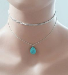 Check out this item in my Etsy shop https://www.etsy.com/listing/458784238/choker-and-necklace-setsilver-choker-and