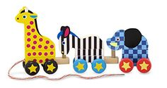 Melissa  Doug PullAlong Zoo Animals Wooden Pull Toy >>> See this great product.Note:It is affiliate link to Amazon.