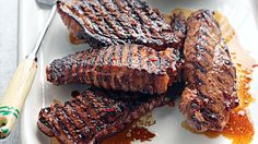 Chilli and honey barbequed steak with coleslaw recipe - Chilli Recipes, Beef Recipes, Cooking Recipes, Savoury Recipes, Great Recipes, Favorite Recipes, Xmas Recipes, Perfect Steak, Western Food