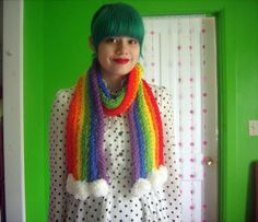 Diy Projects: DIY Finger Knitted Scarf Alaina will love this one!