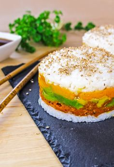 Sushi burger veggie