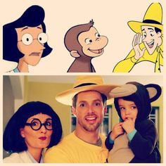 DIY Curious George and the Man with the Yellow Hat Halloween Couple Costume Idea 5