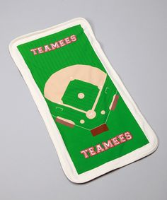 Look at this Teamees Home Run Baseball Organic Burp Cloth on #zulily today!
