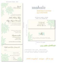 Mahalo Premium Tropical Wedding Invitations