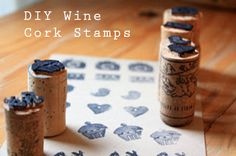 Have a collection of wine corks at home that you don't know what to do with? Make stamps! All you need is corks, a craft knife, and a sharpie!