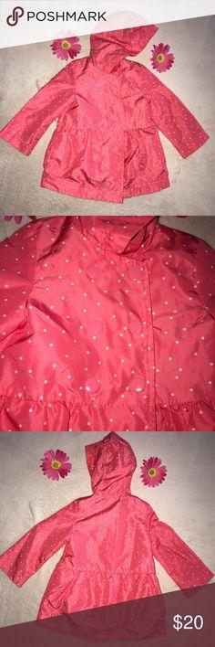 🛍🌧Carter's Rain Jacket 18 mos Girl ⭐️☂️ 🛍🌧Scoop up this adorable pink and white polka dot rain jacket for your baby girl, by Carter's 18 mos Girl ⭐️☂️ Carter's Jackets & Coats Raincoats