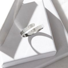 Styled product photography UK. Hard lighting, shadows, jewellery, ring, white boxes. This image is copyright of Sally Williams Photography © 2021 all rights reserved. Photography Uk, Product Photography, Sally, Affirmations, Cufflinks, Silver Rings, Shadows, Boxes, Accessories