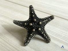 Online Shop Starfish Sea Star Dresser Knob Drawer Knobs Nautical Antique Silver Black Burgundy Kitchen Cabinet Door Pull Knob | Aliexpress Mobile