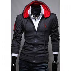 17.9$  Watch now - http://diba2.justgood.pw/go.php?t=YL2741519 - Korean Style Embroidery Deer Long Sleeves Polyester Hoodies For Men