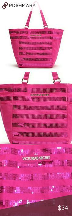 💋 Victoria's Secret Sequin Tote Beach Bag Pink Victoria's Secret Sequin Canvas Hot Pink Sparkling Bag Beach Gym Tote Travel Handbag Limited edition.  . Size Large tote  . Brand 💋 Victoria's Secret   . Condition Great  . Style Tote  . Color Pink  . Bundle & SAVE 25% off 🍍  No additional shipping charge when you purchase more from my closet   Every purchase will be packed with Care & a Special FREE GIFT 🎁   🍍 25% OFF on bundles   Inventory # 251 Victoria's Secret Bags Totes