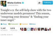 Misha Collins on Twitter - Supernatural Season 9