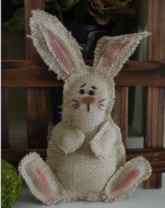 """Creative """"Try""""als: Burlap Bunny with Pattern"""