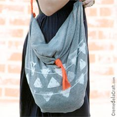NO-SEW, easy and quick stylish tote bag made from a pillow case and scrap fabric (full tutorial)