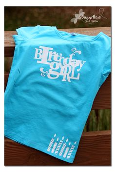 Silhouette Project: Birthday Shirt - Sugar Bee Crafts