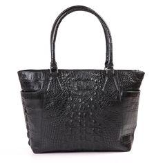 "New ZELLI Exotic Leather Genuine Alligator Black Tote Bag Handbag ""Tracie"" #Handmade #TotesShoppers"