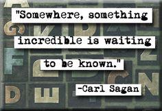 Carl Sagan Incredible Quote Magnet or Pocket Mirror (no.111). $4.00, via Etsy.