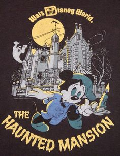 Walt Disney World: The Haunted Mansion Poster Disney, Vintage Disney Posters, Retro Disney, Vintage Cartoons, Vintage Disneyland, Disney Love, Disney Theme, Disney Parks, Walt Disney
